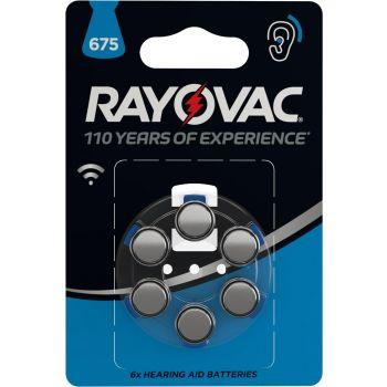 Patarei Rayovac 675 kuuldeaparaadi d 6-pakk 5000252039723