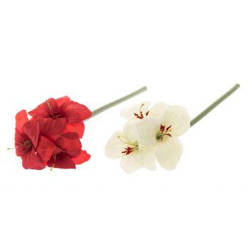Kunstlill Amaryllus 53cm punane/valge
