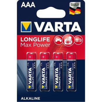 Patarei Varta LongLife Max Power AAA/LR03  4-pakk 4008496104734