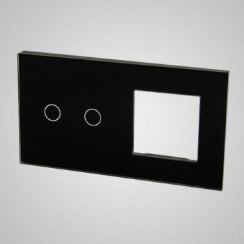 Lüliti Tenux klaaspaneel 2+raam must 47434813
