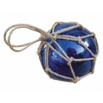 Dekoratiivne klaaspall sinine D15cm