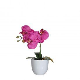 Kunstlill Orhidee potis roosa 26cm