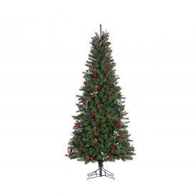 Jõulukuusk 185cm käbide ja punaste marjadega