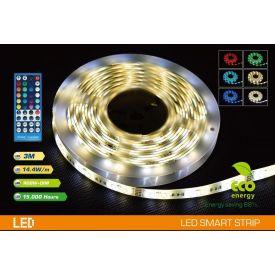 Valgusti LED riba 3m + adapter IP65 + pult