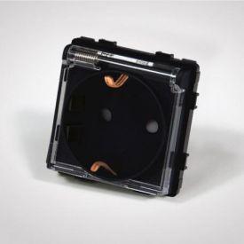 Pistikupesa sisu Tenux maandusega kaanega must 16A 47422711