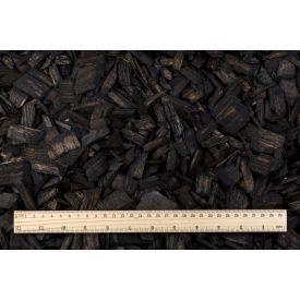 Hakkepuidu multš must 50L Wood chips black