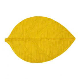 Lauamatt Leaf 45x30cm kollane