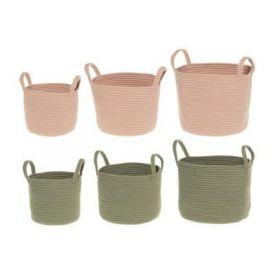 Korv Rosie ümar 20x20x19cm roosa/roheline