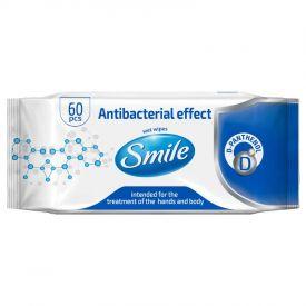 Antibakteriaalsed niisked salvrätid Smile 60tk 4823071621044