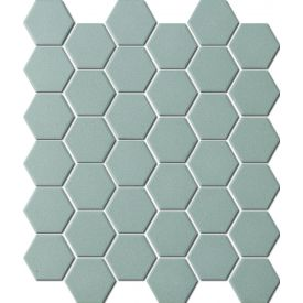 Mosaiik Unglazed hexagon dark grey