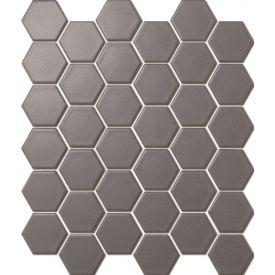 Mosaiik Hexagon dark grey matt