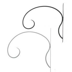 Amplihoidja Simple must 35cm