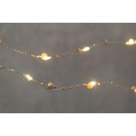 Valguskett 20LED pärlitega hõbe 330624 Jõuluvalgustus 6410413306202