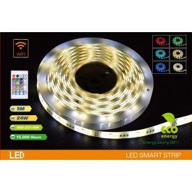 Valgusti LED riba 5m + adapter IP20