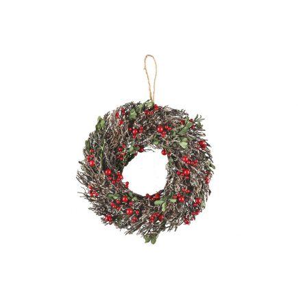 Jõulupärg külmunud pajuokstest 35cm 320124 Jõulukaunistused 6410413201248