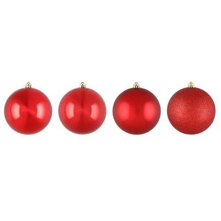 Kuuseehted punased 10cm 4tk valik