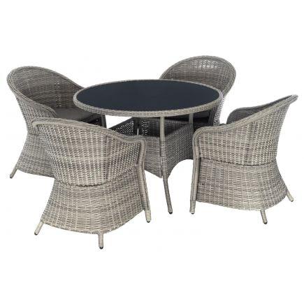 Aiamööbli komplekt Siena laud + 4 tooli