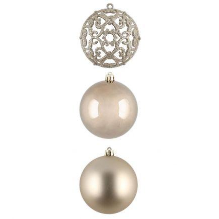 Kuuseehted Ornament 4tk 8cm moka 601372 Kuuseehted 6410416013749