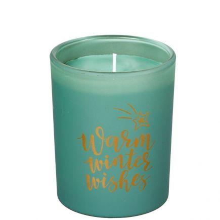 Lõhnaküünal klaasis roheline 45h kuuseokas 5411708177300