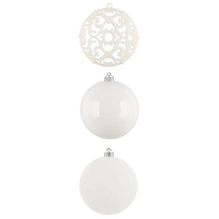 Kuuseehted Ornament 4tk 8cm valge 601372 Kuuseehted 6410416013732