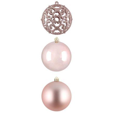 Kuuseehted Ornament 4tk 8cm roosa 601372 Kuuseehted 6410416013763