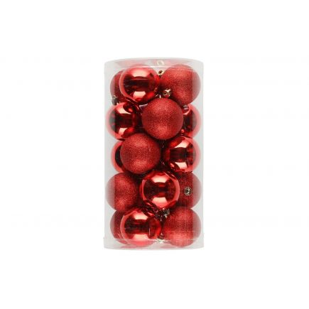 Kuuseehted 20tk 6cm punased 6410413184022