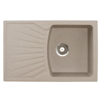 4743277021052 Graniit köögivalamu Aqualine QuadroPlus 770 x 500 mm, liiv