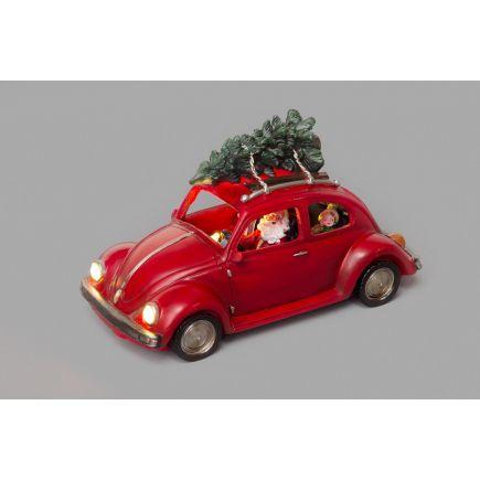 Jõuluvana autoga 3LED tulega 6410413070691