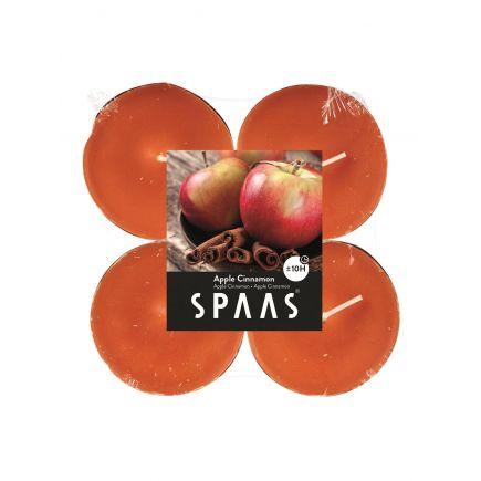Lõhnastatud teeküünal maxi 10h õun-kaneel 4tk/pakis 5411708154240