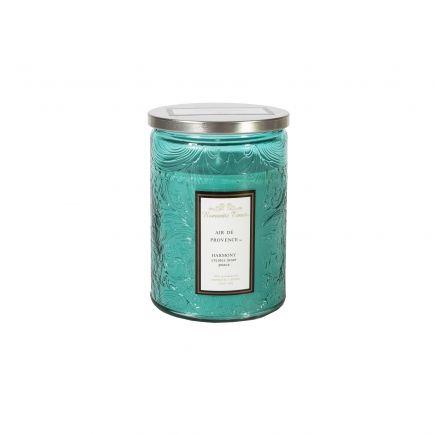 Küünal klaasis Romantic Times H11cm sinine