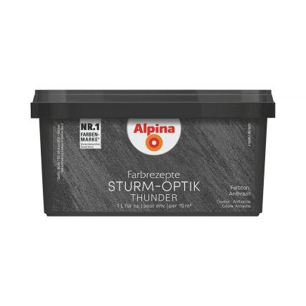 4001244748709 Efektvärv Alpina Farbrezepte STURM-OPTIK 1L antratsiit