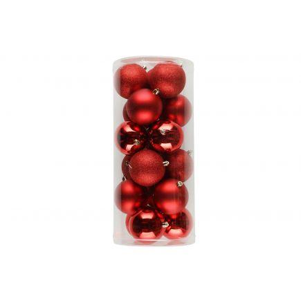 Kuuseehted 18tk 8cm punased 6410413183933