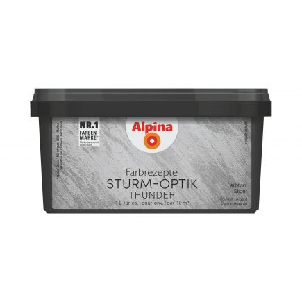 4001244748716 Dekoratiivvärv Alpina Farbrezepte STURM-OPTIK 1L hõbe